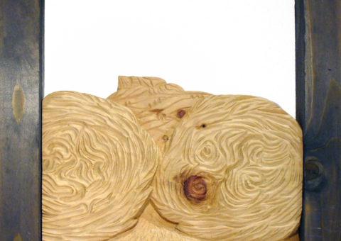 Balloni - altorilievo su pino cembro 24x26 cm