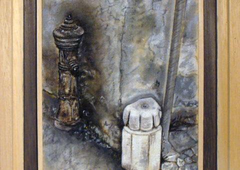 Via Roma 55, Dro (TN) - olio su tela 15x20 cm