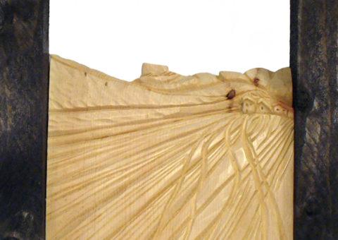 Tracce -  altorilievo su pino cembro 20x31 cm