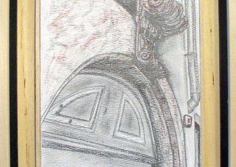 Senza nome, Dro (TN) - carboncino su cartone 20,5x31 cm