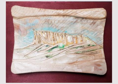 Pietra pergamena 2 - olio su legno 20,5x15,5 cm