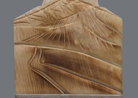 Senza nome 2 - scultura su cirmolo 12x14 cm